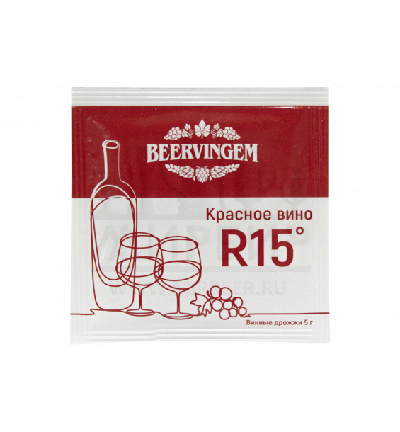 "Винные дрожжи Beervingem ""Red Wine R15"", 5 г"