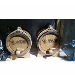 Бочка фирменная АЛКАШ(ПРЕМИУМ) 5 литров с подставкой