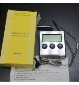 Цифровой электронный термометр TP-700 с выносным щупом и сигналом (кухонный)